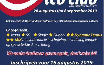 Inschrijving clubkampioenschappen geopend!